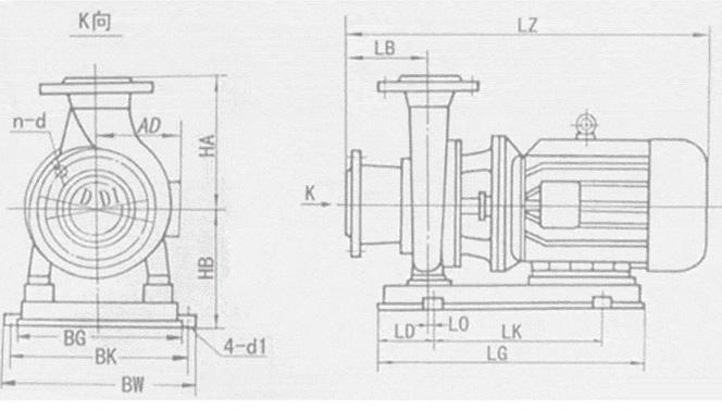 isw50-160-isw卧式管道离心泵