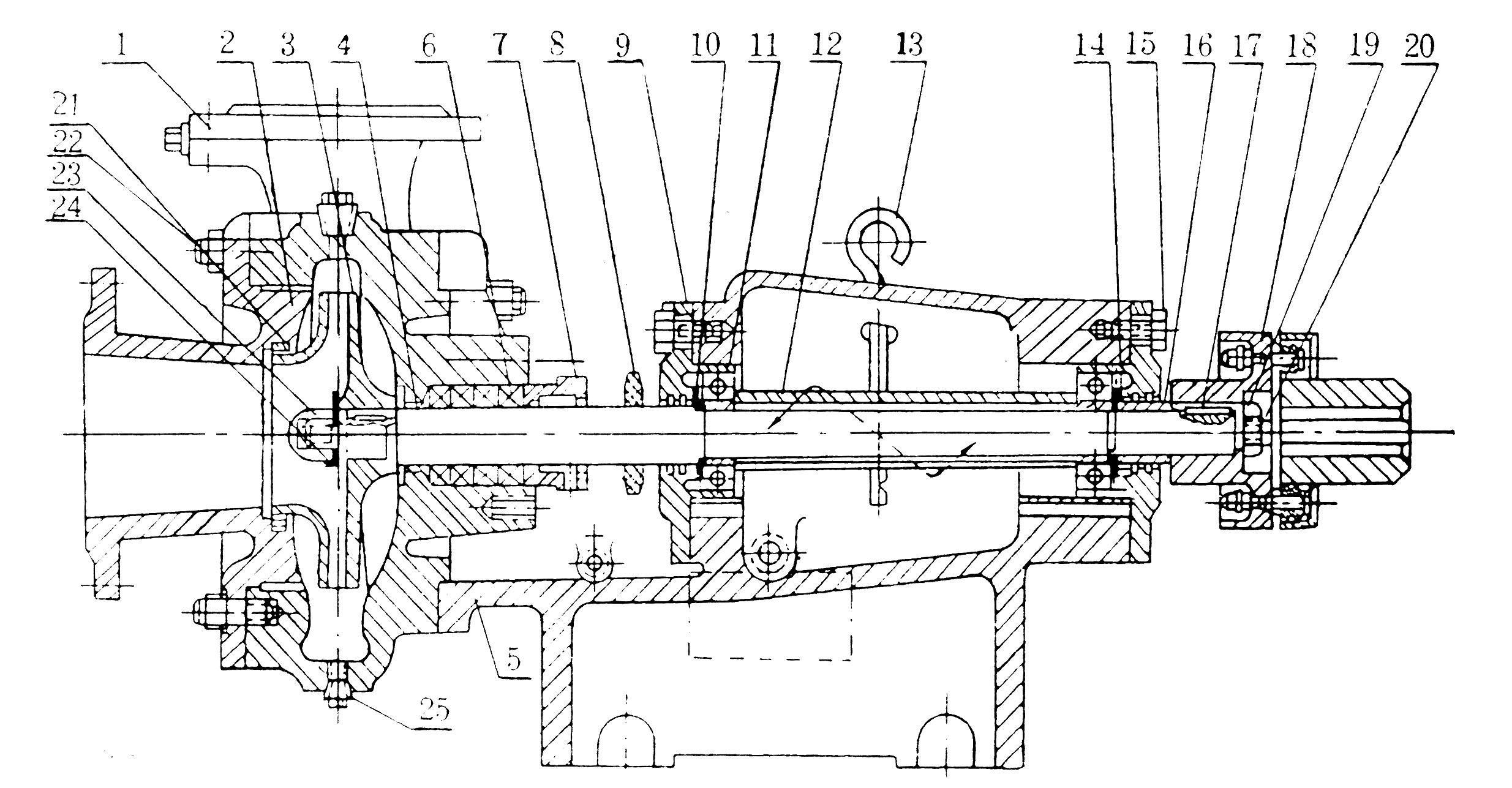 一、产品概述 BA型泵系列单级单吸悬臂式离心泵,供吸送清水及物理化学性质类似于水的液体之用。 本型泵扬程在8-93米时,流量为4.5360米3/时,液体的最高温度不得超过80,适合于工厂、矿山、城市给水和农田灌溉等用。